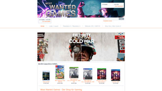 Homepage von Most Wanted Games in Zeitz